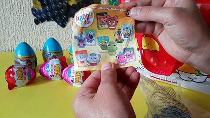 SURPRISE EGGS ! happy meal - Kinder - 2016 toys and funny kids