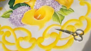 Tutorial De Pintura Textil Camino De Mesa Orilla Recortada