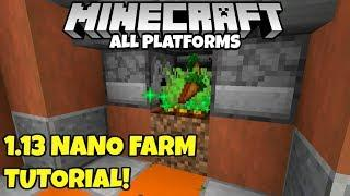 Minecraft Simple Nano Farm Tutorial! Bedrock MCPE Java Xbox Ps4