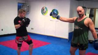 Tutorial On Muay Thai Skip Kick Counter To Cross Punch