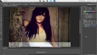 Como Crear Un Efecto Vintage Profesional Tutorial  Photoshop Cs6 En Español Calidad HD
