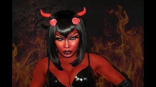 SHE-DEVIL HALLOWEEN TUTORIAL | AALIYAHJAY