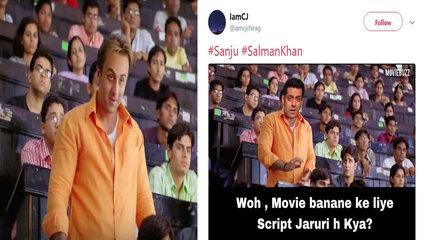 Sanju: Fans making funny MEMES on THIS Munna Bhai scene of Ranbir Kapoor's film| FilmiBeat