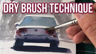 Complete Guide to Dry Brush Technique | Watercolor Tutorial & Demonstration