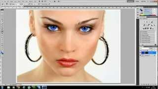 Photoshop CS5 Tutorial - Dansk: Skift Af øjenfarve.