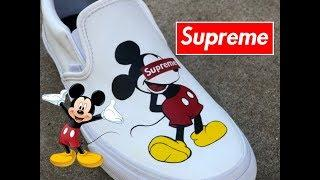 SUPREME X Mickey Mouse Vans.. MUST WATCH!!! -(Full tutorial)