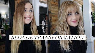 Complete Blonde Transformation || Hair Tutorial