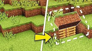 Minecraft: How to Build An Easy Survival Secret Base Tutorial (Hidden House)
