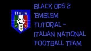 Black Ops 2 Emblem Tutorial - Italian International Football Team