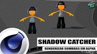 Shadow Catcher - Render Sombras Em Alpha - Tutorial Cinema 4D / Português - F.P