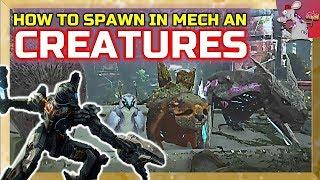 ARK EXTINCTION How To Spawn Creatures And Mechs - Ark Tutorial
