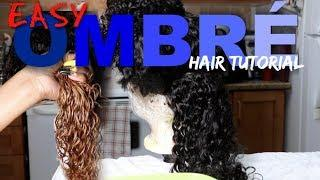 DIY NATURAL BLACK TO OMBRÉ TUTORIAL ON DEEP WAVE WIG | WEST KISS HAIR | #WIGAUCTION