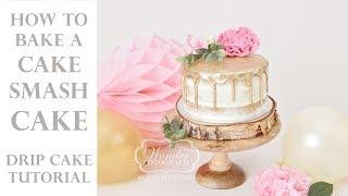 Baking Tutorial! How to create a beautiful DRIP CAKE for a cake smash photoshoot