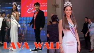 LAVA WALK TUTORIAL. Catriona Gray tinuruan ng lava walk si Ryan Bang on It's Showtime