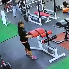 Funny Gym Fail and Slip