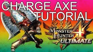 Monster Hunter 4 Charge Axe Tutorial English Commentary Online Gameplay