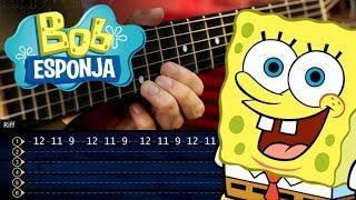 Bob Esponja Guitarra Tutorial | SpongeBob Theme Guitar Tutorial | TABS Christianvib