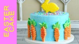 HOW TO MAKE PRETTY EASTER CAKE, DECORATING WITH BUTTERCREAM