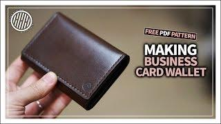 [Leather Craft] Making a business card wallet / tutorial / free pdf template