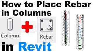 How to Place Rebar in Columns in Revit Tutorial