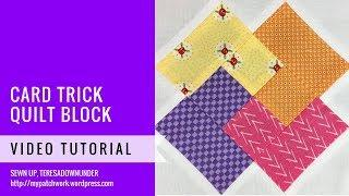 Card trick block - Mysteries Down Under quilt - video tutorial