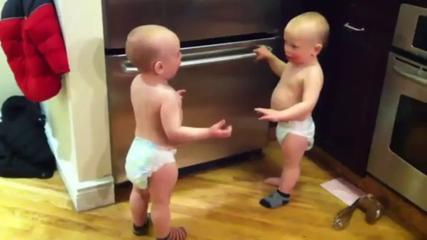 Twin Baby Boys Have A Conversation - Funny Videos At Fully :)(: Silly
