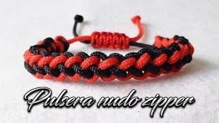 COMO HACER ESTA PULSERA DE HILO NUDO ZIPPER / TUTORIAL EN MACRAME FACIL Y RAPIDO