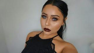 Full Glam DRUGSTORE Dark Fall Makeup Tutorial