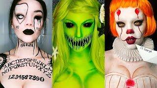 INCREÍBLES MAQUILLAJES PARA HALLOWEEN #16 / Easy Halloween Make Up Tutorial 2017