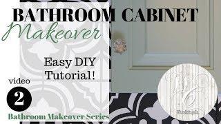 Bathroom Cabinet Makeover ~ DIY Cabinet Refinish Tutorial ~ Bathroom Makeover ~ Painted Cabinets
