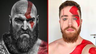 Kratos: Tutorial de Maquiagem Halloween (Fácil)