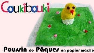 Poussin De Pâques En Papier Mâché Par COUKIBOUKI - Comment Faire ? Easter Chick Paper Mache