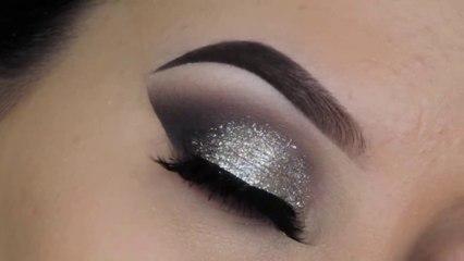 5 Minute Glitter Eye Makeup _ Easiest Glitter Look Ever 2019