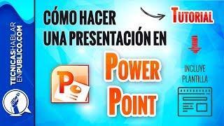 TUTORIAL: Cómo Hacer una Presentación en Power Point Profesional | Plantilla GRATIS con Diapositivas