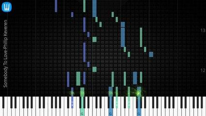 [Piano Solo]Somebody To Love, Phillip Keveren-Synthesia Piano Tutorial