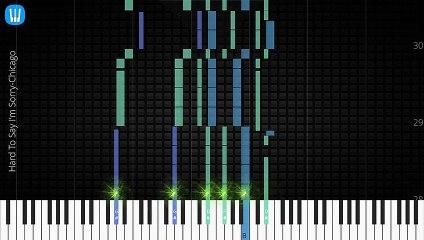 [Piano Solo]Hard To Say I'm Sorry, Chicago-Synthesia Piano Tutorial
