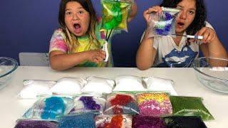 MAKING SLIME WITH BAGS - SLIME BAG TUTORIAL
