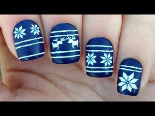 Nail Art Tutorial: Christmas Sweater / Fair Isle Print