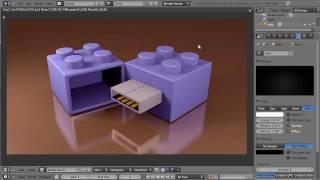 Blender 3D Tutoriel Français - Cle USB Lego - By KOPILOT