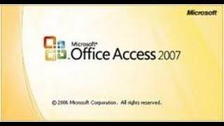 تعلم عمل برنامج متكامل فى 20 دقيقة بإستخدام Access 2007