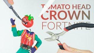 Making Tomatohead Crown (Fortnite Battle Royale) – Polymer Clay Tutorial