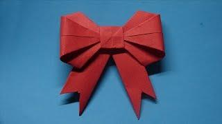 How to make a paper Bow/Ribbon - Easy Origami Tutorial - Ribbons for beginners making