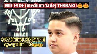 Tutorial MID FADE (medium fade). New Haircut Stylist. Paling mudah dipahami. Belajar potong rambut