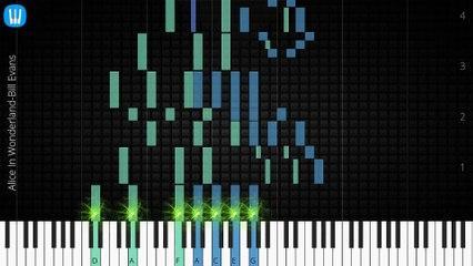 [Piano Solo]Alice In Wonderland, Bill Evans-Synthesia Piano Tutorial