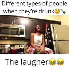 Different types of People when they're drunk