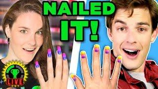 We NAILED It! | We Tried Following A Simply Nailogical Tutorial (Nail Art)