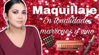 MAQUILLAJE TONOS MARRONES Y VINO | TODO SALIÓ MAL EN ESTE TUTORIAL | SOMBRAS PATCHY | RAMI