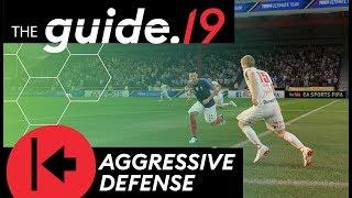 FIFA 19 How to DEFEND AGGRESSIVELY! DEFENDING TUTORIAL | Pressure opponents & win the ball back!