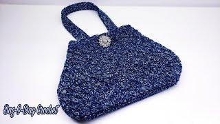 How To Crochet - A Bag - Denim Jeans | Bag-O-Day Crochet Tutorial #564