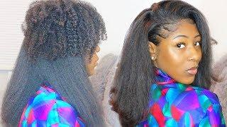 CURLY TO STRAIGHT HAIR TUTORIAL | with NO FRIZZY ENDS on Type 4 Natural Hair